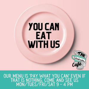 you can eat with us PWYC